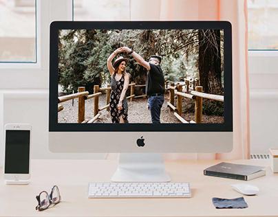 Free iMac on Desktop Mockup PSD Template Vol. 3