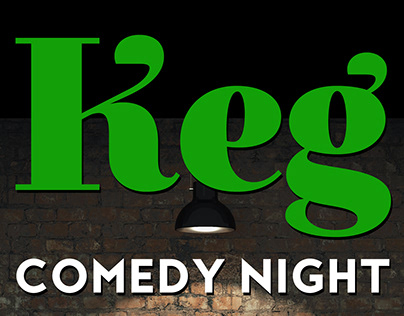 Keg Comedy Night flyer