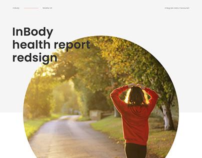 InBody health report redesign