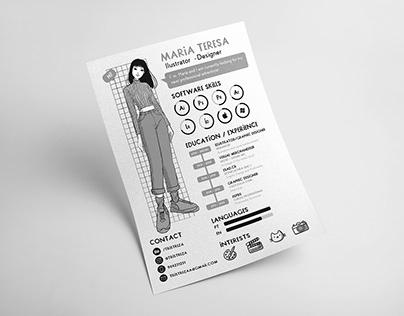 Creative Resume 2020 - Maria Teresa