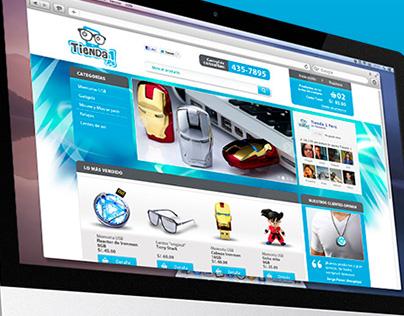 Logotipo y website Tienda 1