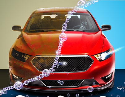 Car foam for washing cars and vehicle