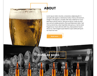 Website template for craft beer business and restaurant