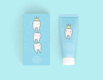tooth fairy - kids toothpaste package design