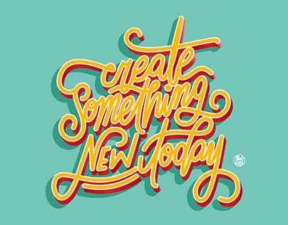 Handletterin font illustration – create something …