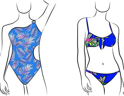 Ilustraciones para Millennials Bikinis