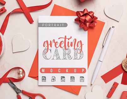 Portrait Greeting Card Mockup