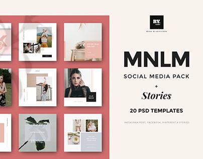 MNML Social Media Pack & Instagram Stories PSD Download