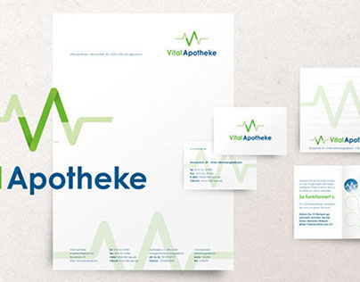 Logo Design and Stationery for Vital Apotheke
