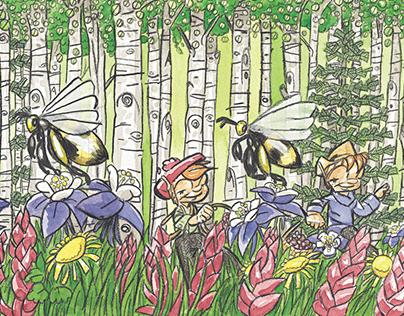 The Rocky Mountain Tea Twerps Book Illustrations