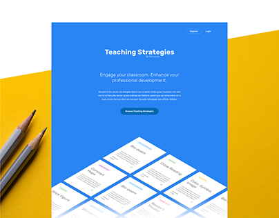 Teaching Strategies Website (concept)