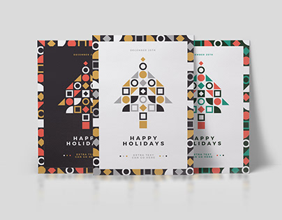 Minimal Geometric Christmas Card