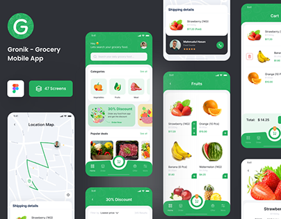 Gronik - Grocery Shop Mobile App UI Kit