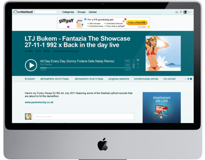 Mixcloud.com Cloudcast WebPage Visual Remix