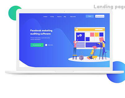 Landing page for marketing software