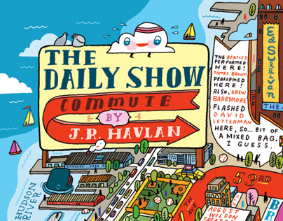 """""""The DAILY SHOW Commute"""" MAP"""