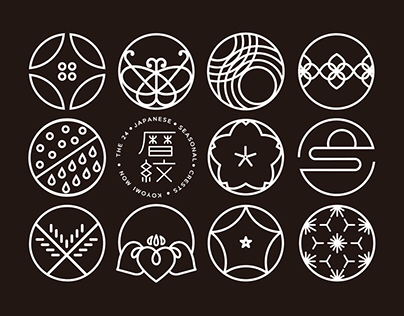 KOYOMI KON - Japanese Seasonal Crests