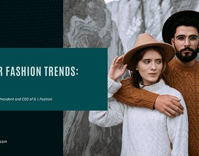 Winter Fashion Trends: Part 2