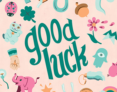 Good Luck for stationery, artwork and surface design.