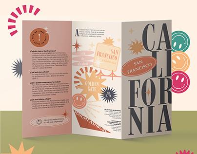 Visit California - Typographic Brochure Design