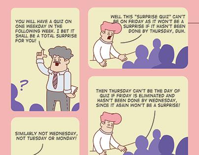 The Hanging Man Paradox Comic - WatchOut IITR