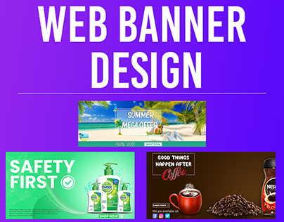 Web Homepage Banner Design any custom size
