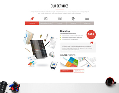Bold Agency Website PSD Template Free