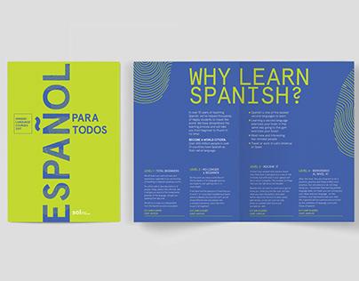 Language school brochures