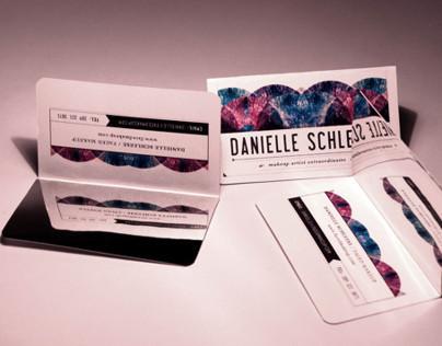 Makeup Artist Mirrored Business Card