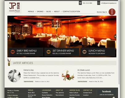 Website Design & Development of Jasminepalace.ie