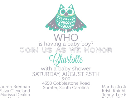 Baby Shower and Children's Party Invitations