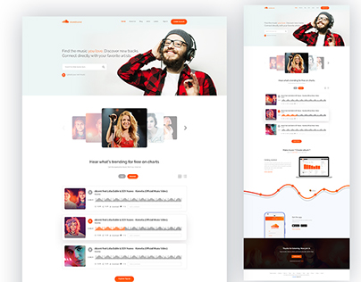 Soundcloud Website Home Page [Redesign Concept]