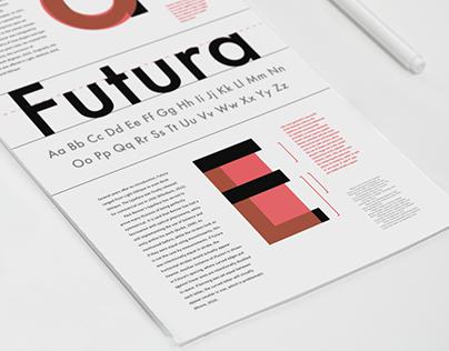 Futura: Typographic Information Poster