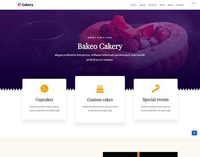 Cake ORDER FULL Landing Page Design