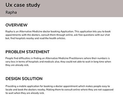 UX Case study- Rapha