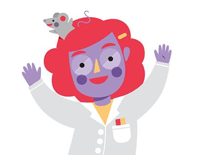 Vera, the Scientist - Sticker Pack