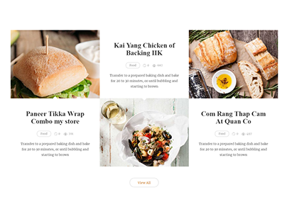 A New Restaurant-Kitchen Blog Website by Sunny Sum