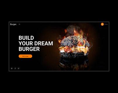 Burger Constructor - design concept