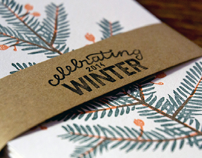 Celebrating winter | letterpress card collection