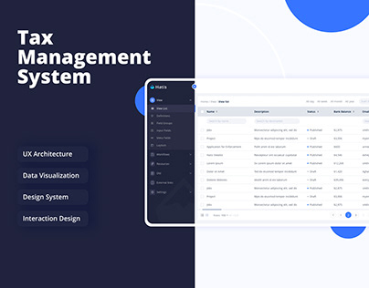 Hatis | Tax Management System | Web Tool | UX/UI