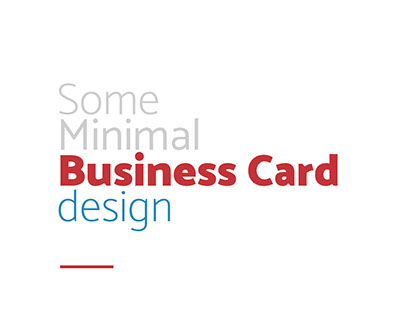 Minimal Business Card Design (Part 1)