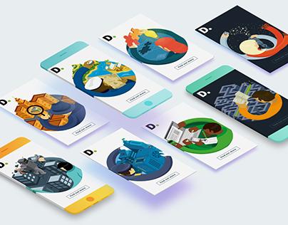 Deloitte: Digital Media Illustrations