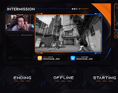 CLEAN FREE STREAM OVERLAY TEMPLATE PSD PACK 2020
