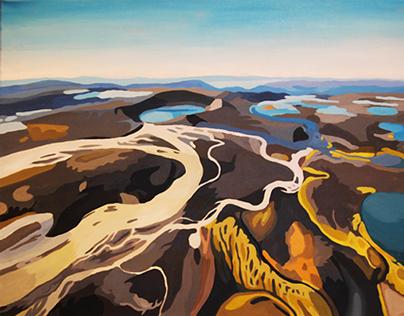 Icelandic Landscapes Acrylic Paintings