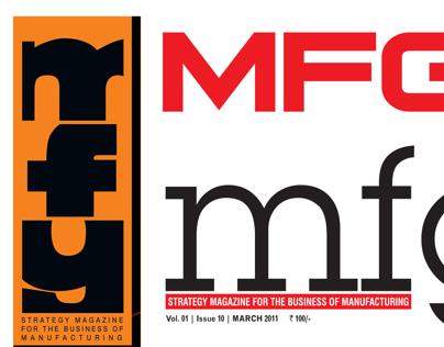 MFG magazine masthead design options