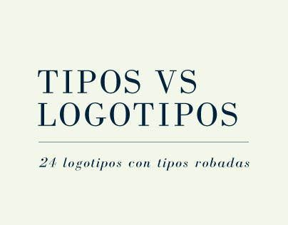Tipos VS Logotipos