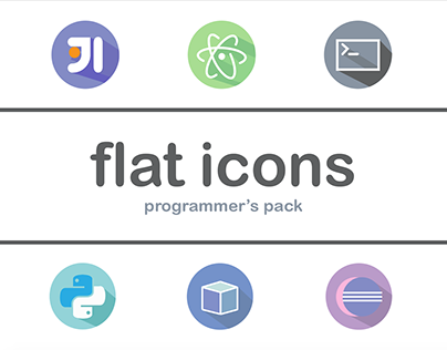 Flat Icons: Programmer's Pack
