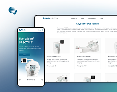Mediso - Portal and brand redesign