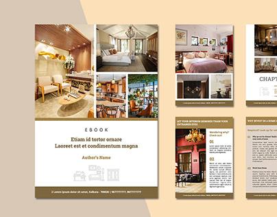 Ebook Layout for a Interior Decorator