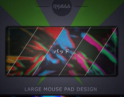 large mouse pad design